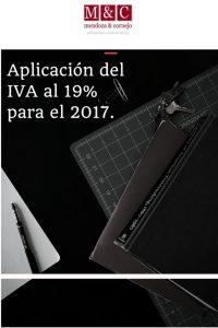 Aplicacion del iva al 19% para el 2017